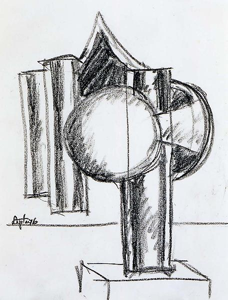 Bell Tower Study, 1976 conte crayon on paper 11&qu...