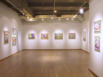 Installation Views - Louis Stone: American Modernist - Major Abstract Paintings, 1938-1942 - November 7, 2002 – January 11, 2003 - Exhibitions