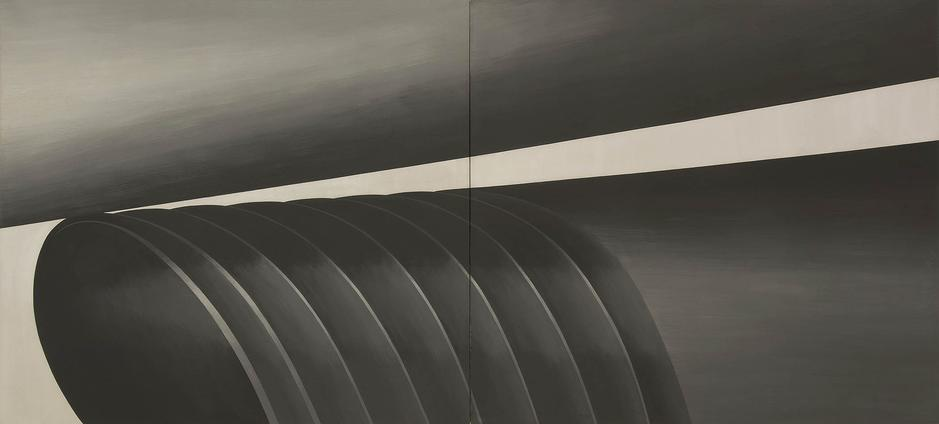 "Ram (Verb Series), 1964 oil on canvas 66"" x 144"",..."