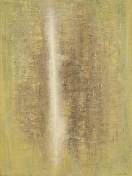 Expanding, 1959 oil on canvas 48 x 36 inches, sign...