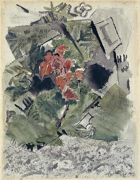 Pertaining to Deer Isle-The Tree, 1927 watercolor...