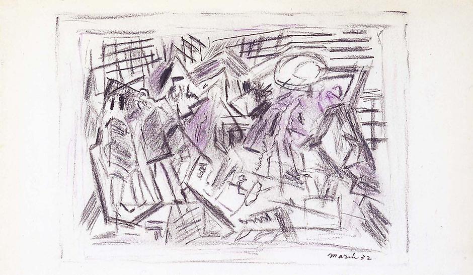 Untitled, 1932 pencil on cream wove paper 5 7/8&qu...