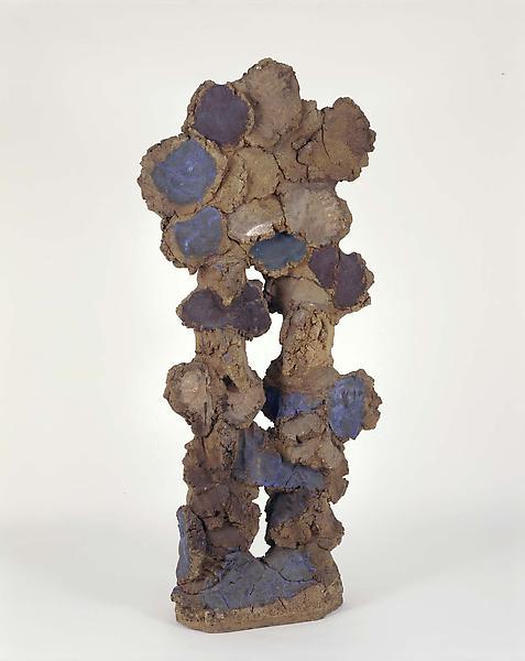 """Untitled, 1960 stoneware with glaze 67"""" x 30&..."""