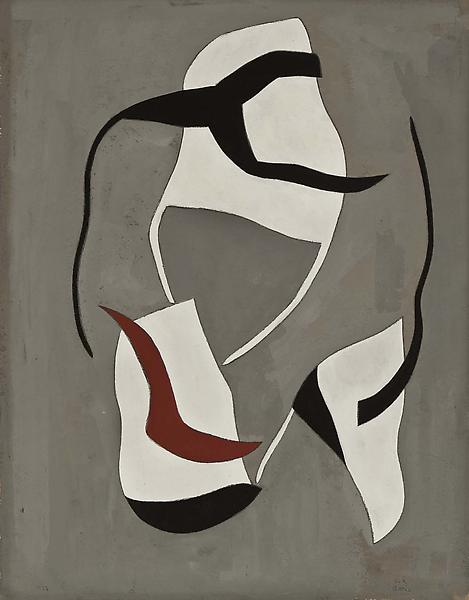 Forms in Space, 1938 gouache and graphite on paper...