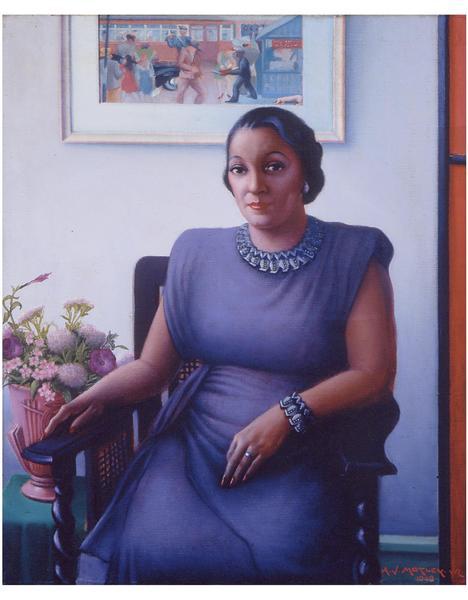 Archibald J. Motley, Jr. (1891-1981) Portrait of a...