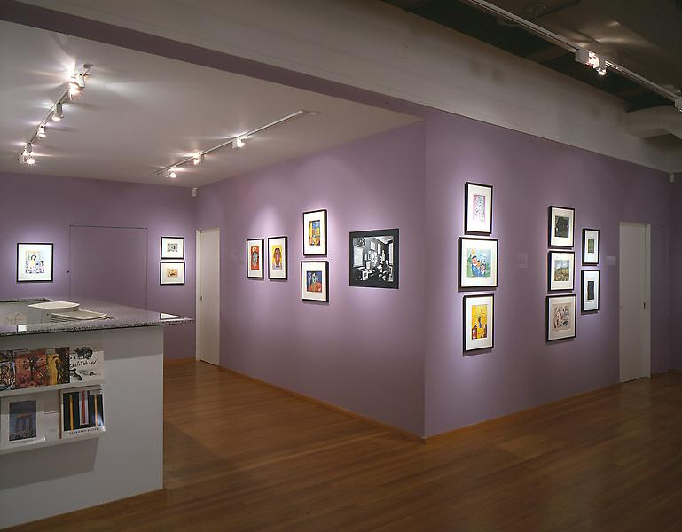 Installation Views - In Hell + Why: Clifford Odets, Paintings on Paper from the 1940s and 1950s - April 11 – June 8, 1996 - Exhibitions