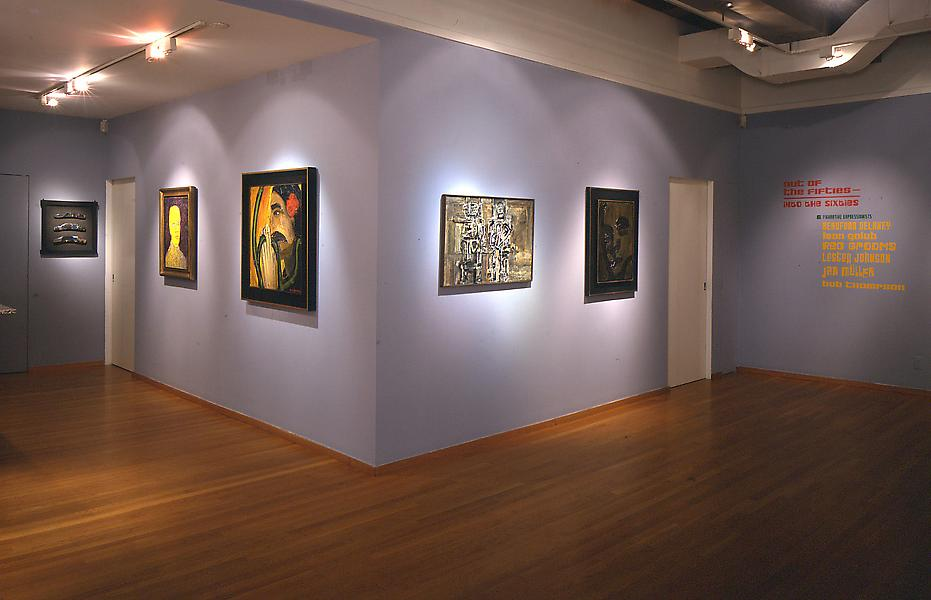 Installation Views - Out of the Fifties - Into the Sixties: Six Figurative Expressionists - March 15 – May 5, 2001 - Exhibitions