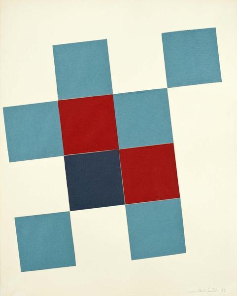 Leon Polk Smith (1906-1996) Untitled, 1952 cut pap...
