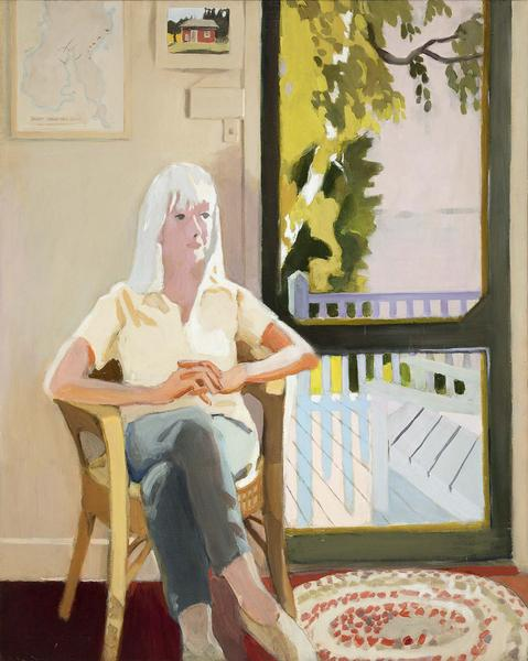 Fairfield Porter (1907-1975) Aline by the Screen D...