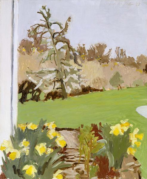 Fairfield Porter (1907-1975) Daffodils and Pear Tr...