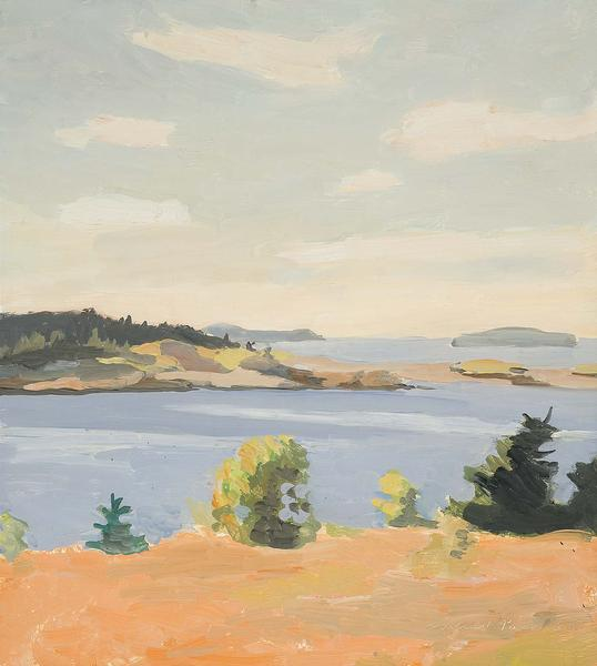 Fairfield Porter (1907-1975) View Across the Barre...