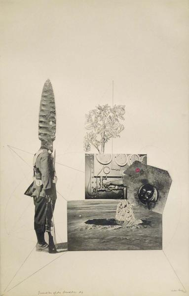 Guardian of the Bread Tree #4, 1943 ink and collag...