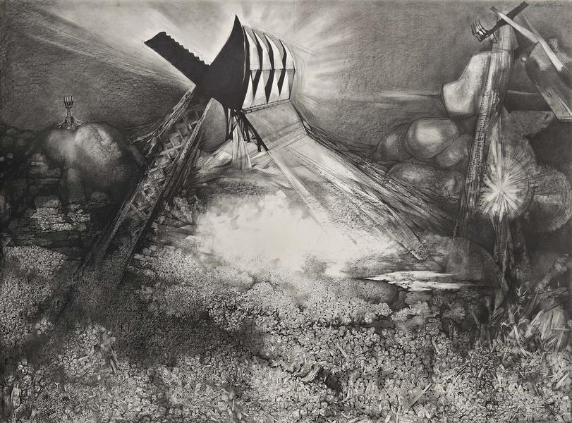 Theodore Roszak (1907-1981) Dump Heap, 1975 graphi...