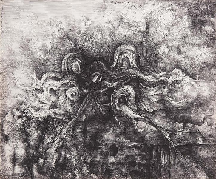 Theodore Roszak (1907-1981) Sea Hunt, c.1972 ink a...