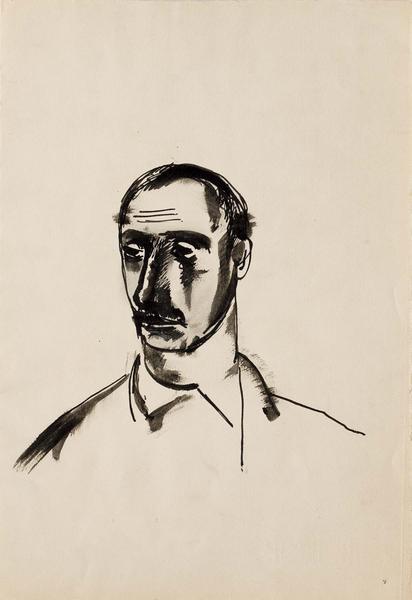 Theodore Roszak (1907-1981) Self-Portrait, 1931 in...