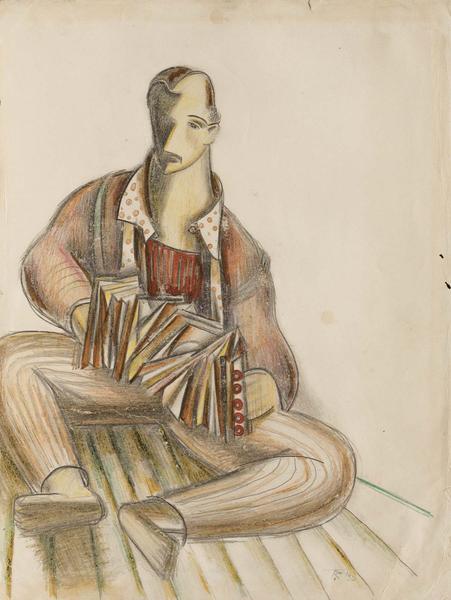 Theodore Roszak (1907-1981) Self-Portrait with Acc...