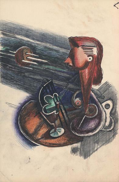 Theodore Roszak (1907-1981) Untitled, c.1932 ink,...