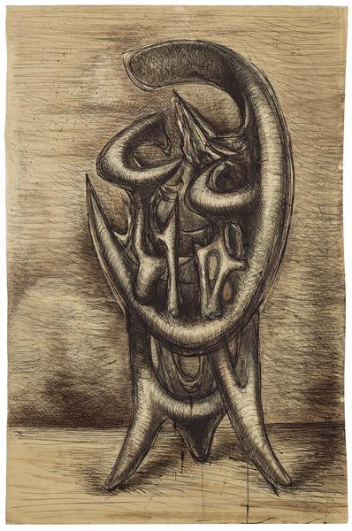 Theodore Roszak (1907-1981) Untitled, c.1954 ink,...