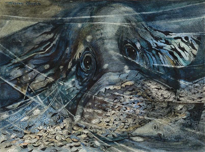 Theodore Roszak (1907-1981) Untitled, 1974-76 wate...