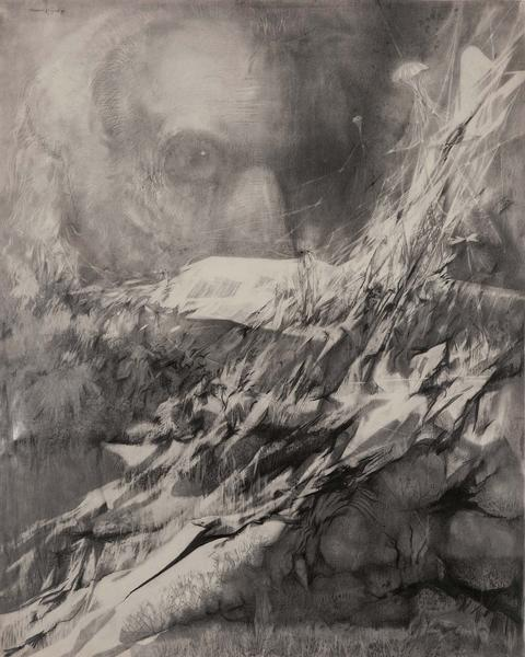 "Untitled, 1979 graphite on paper 60"" x 47 1/2"",&nb..."