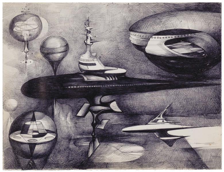 Theodore Roszak (1907-1981) Untitled, c.1979 ballp...
