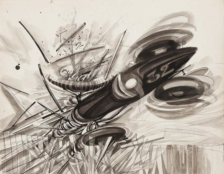 Theodore Roszak (1907-1981) Untitled, 1964 ink and...