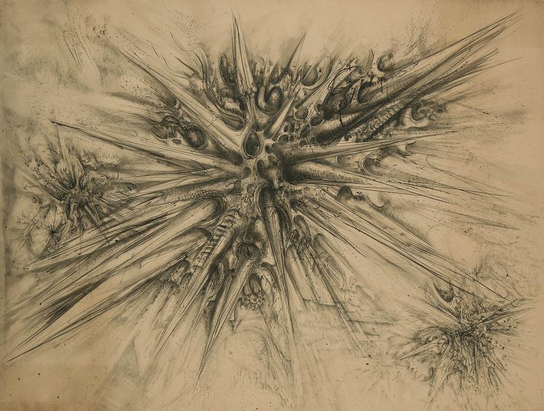 Theodore Roszak (1907-1981) Untitled, c.1953 ink,...