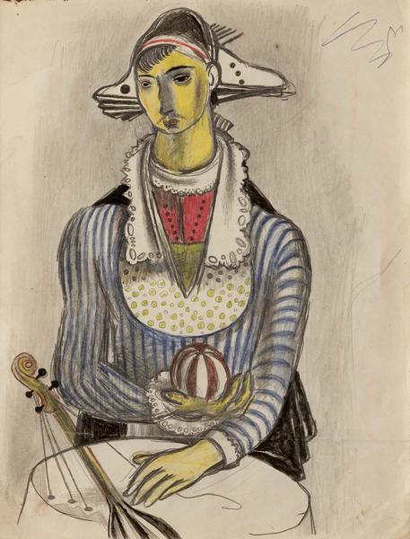 Theodore Roszak (1907-1981) Untitled (Musician wit...