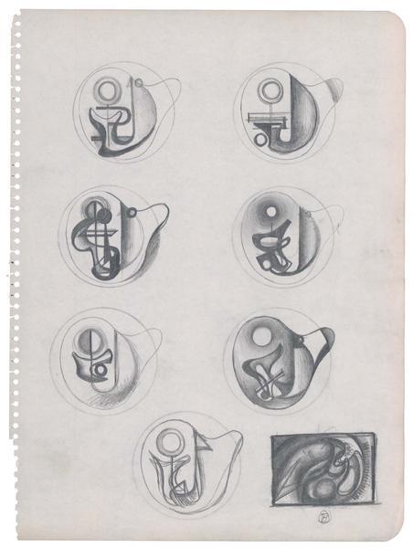 Theodore Roszak (1907-1981) Untitled (Studies for...