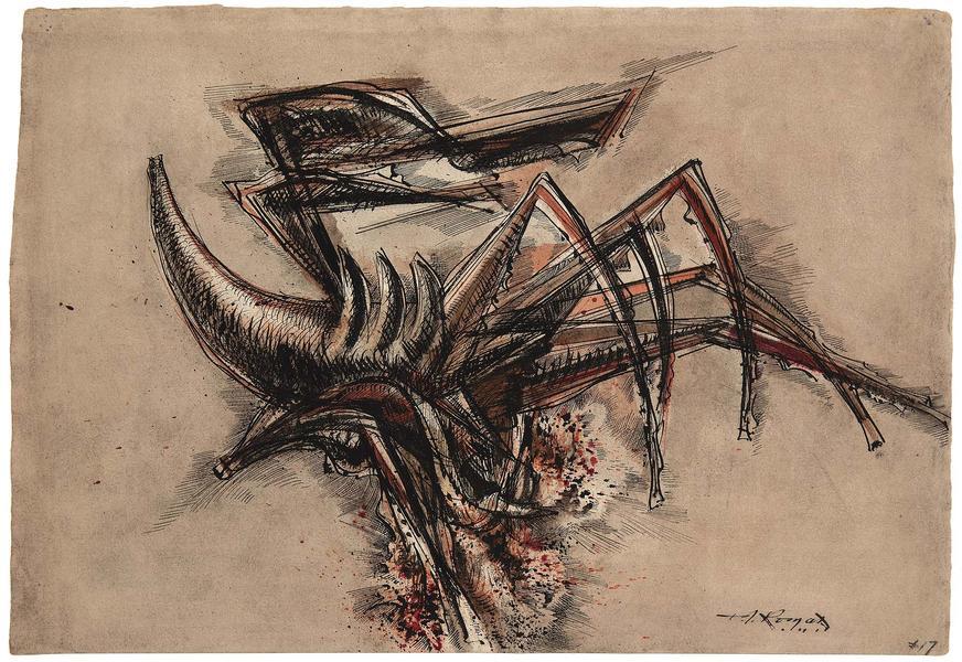 Theodore Roszak (1907-1981) Untitled (Study for Fi...