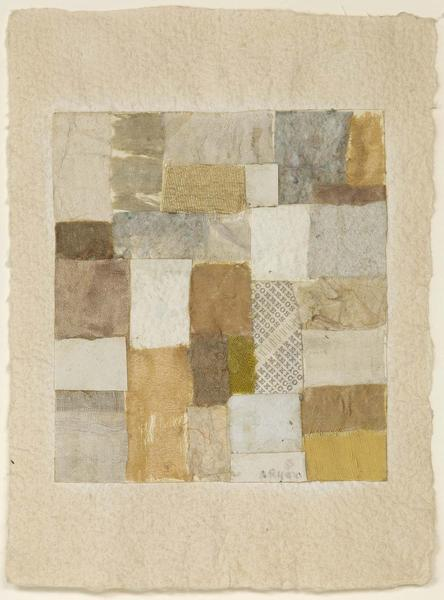 Untitled, c.1952 fabric and paper collage on paper...