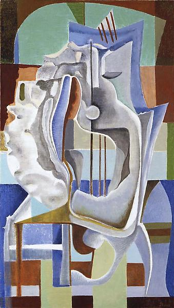 """Untitled, c.1940 oil on canvas 31 7/8"""" x 17 7/8"""",..."""