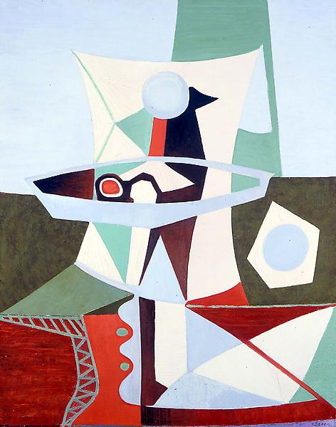 """Untitled, c.1940 oil on canvas 33"""" x 26"""", signed &..."""