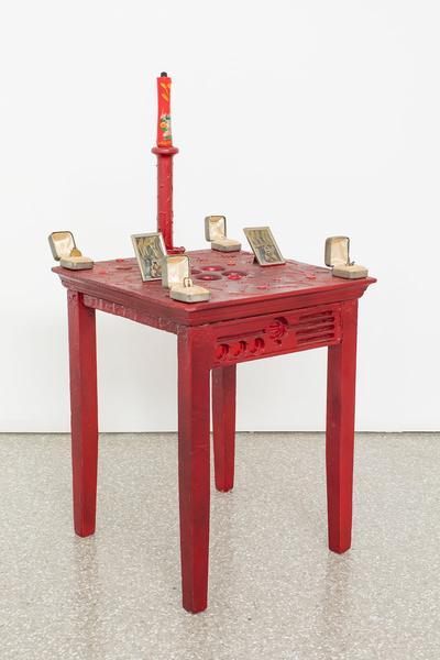 Betye Saar (b.1926) Red Table, 1983 mixed media co...