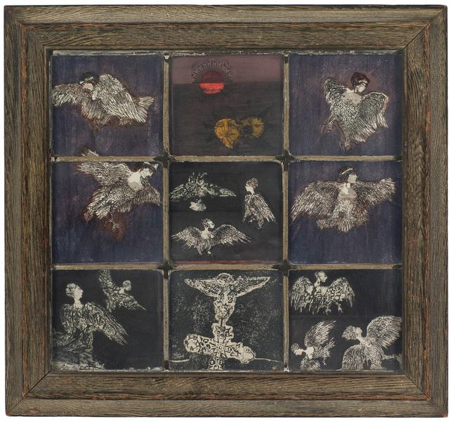Betye Saar (b.1926) Window of Sirens, 1966 hand co...