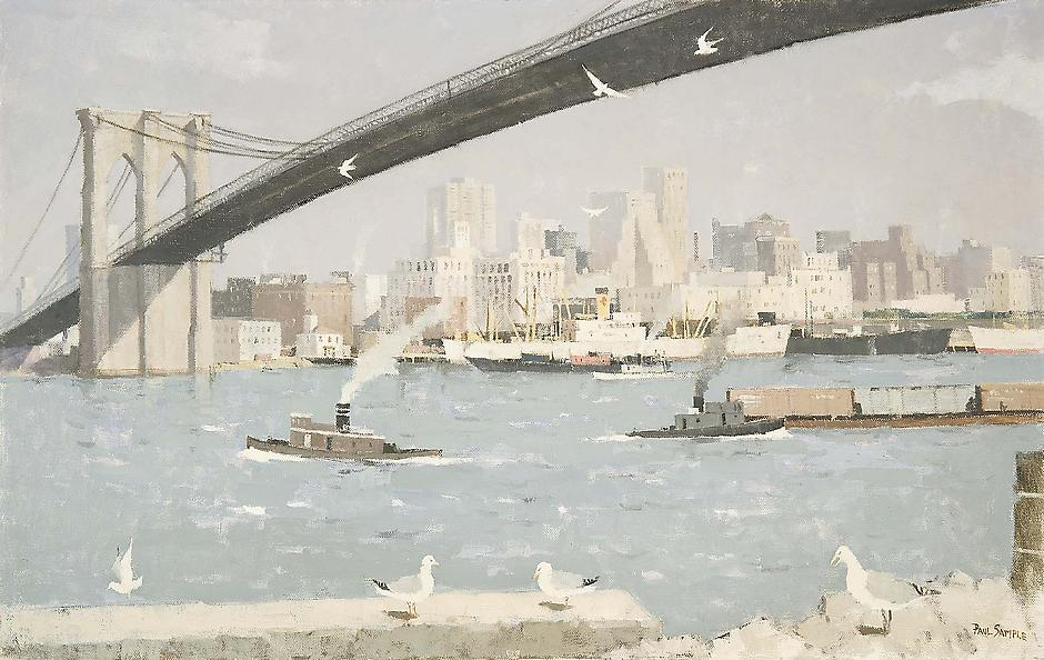 View of Lower Manhattan, From Brooklyn Heights, c....