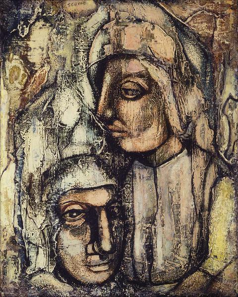 Charles Sebree (1914-1985) Untitled, c.1945 oil on...