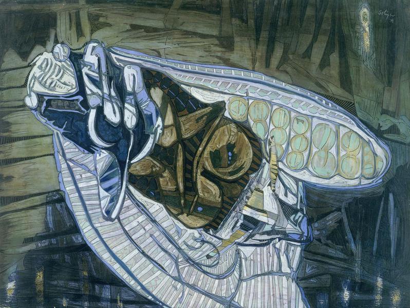 Dead Locust, 1949 oil, pastel, ink, tempera, and w...