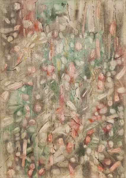 "Untitled, 1958 oil on canvas board 14"" x 10&q..."
