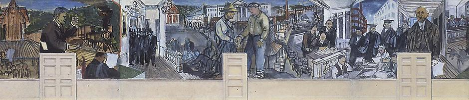 Study for Great State of Wisconsin Mural, c.1937 g...
