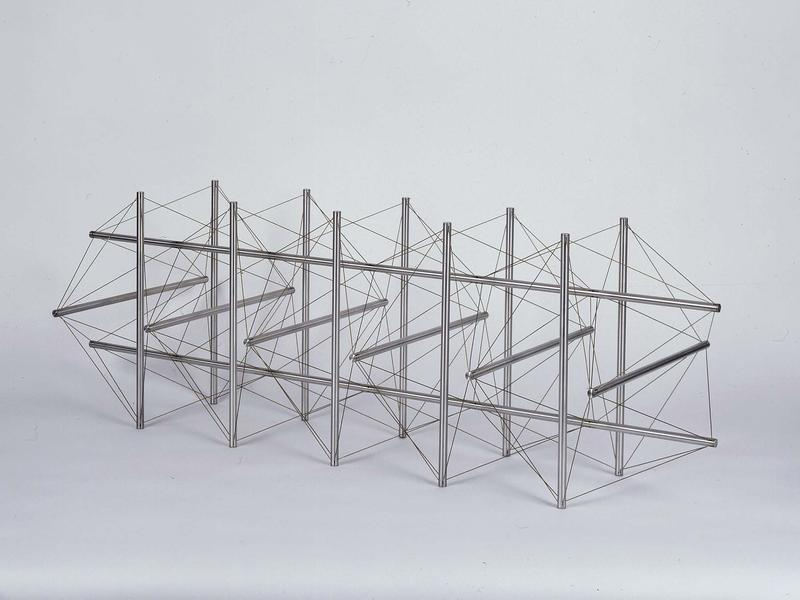 Stage Five, 1966 aluminum and stainless steel wire...