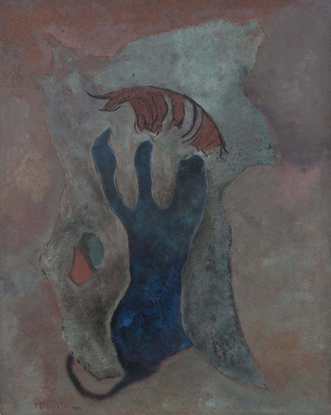 Theodoros Stamos (1922-1997) Petroglyph, 1947 oil...
