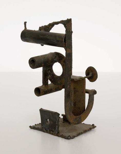 """Untitled, 1956 steel 8"""" x 5"""" x 5"""", signed &nbsp..."""