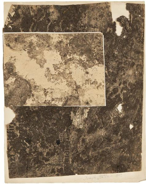 Macchina Naturale #11, 1942 collage of soiled news...