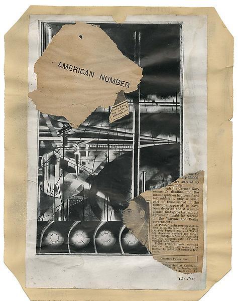 Macchina Naturale #18, c.1938 collage of various p...