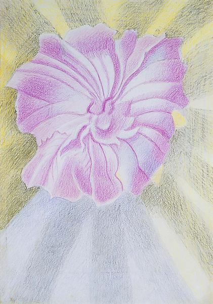 """Untitled, c.1940 crayon on paper 17"""" x 12"""" (sheet..."""