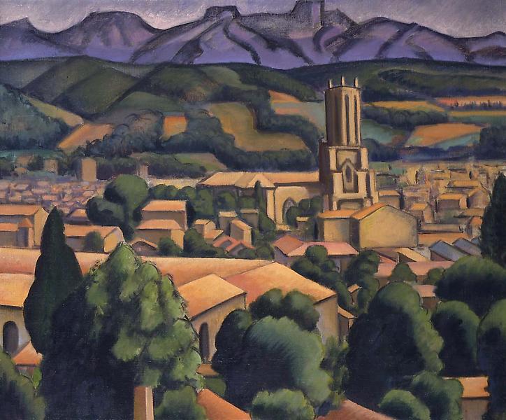 "Provence Landscape, c.1929 oil on canvas 23"" x 28&..."
