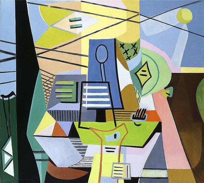"""Untitled, c.1945 oil on canvas 25"""" x 28&quot..."""
