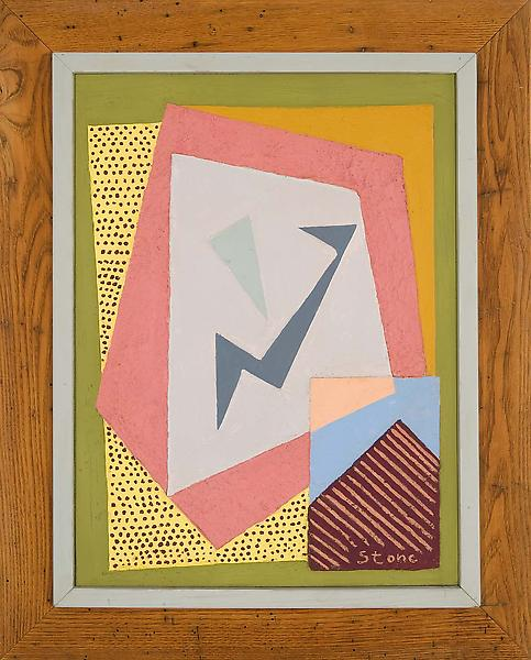 Untitled, c.1938 stucco, oil, and gesso on panel 3...