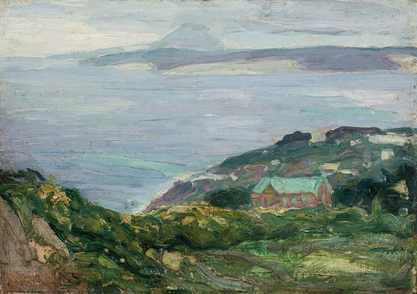 Coastal Landscape, France, 1912 oil on wood panel...